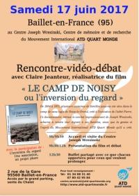 Affiche invitation rencontre-débat à Baillet-en-France